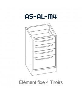 Element fixe avec 4 tiroirs
