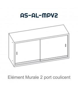 Element mural double avec porte glissantes